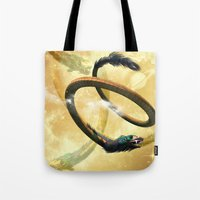 dragon Tote Bags featuring Dragon by nicky2342