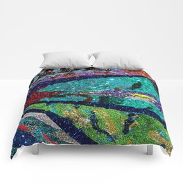 Peacock Mermaid Battlestar Galactica Abstract Comforters