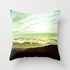 Between the Clouds Throw Pillow