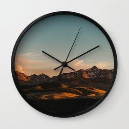 Telluride Sunset (Wide) Wall Clock