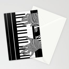 B&W Pianist Stationery Cards