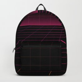 Darksynth Grid Lines Backpack