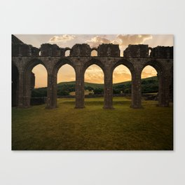 Arches of Llanthony Priory Canvas Print