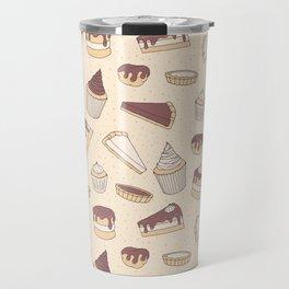 Chocolate Pastry Pattern Travel Mug