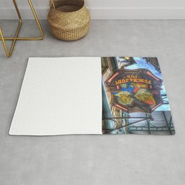 The Punch And Judy Pub Sign Rug