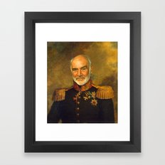Sir Sean Connery - replaceface Framed Art Print