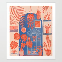 Indoor Jungle 02 Art Print