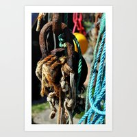 tool Art Prints featuring fisherman's tool by  Agostino Lo Coco