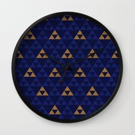 The Golden Power (Blue) Wall Clock