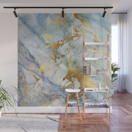 Lovely Marble with Gold Overlay Wall Mural