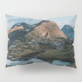 Romsdalshorn - Landscape and Nature Photography Pillow Sham
