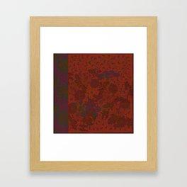 Caravans II:  Asian Print  Plum, gold, orange green origami textile floral design Framed Art Print