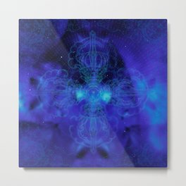 Tibet. Blue Meditation Metal Print