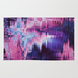 Violet Abstract Glitch effect Rug