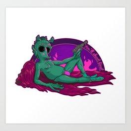Greedo in a Speedo Art Print