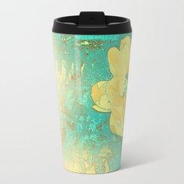 Serenity Prayer Peony Yellow Turquoise Travel Mug