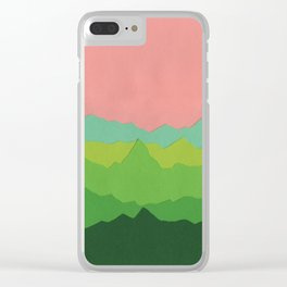 Green Mountains I Clear iPhone Case