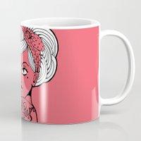 girl power Mugs featuring Girl power ! by cakelab