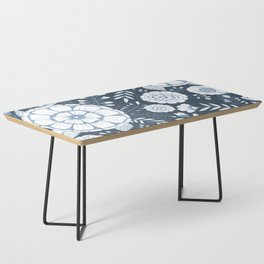 Blue Floral Coffee Table