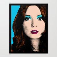 amy pond Canvas Prints featuring Amy Pond Pop Art by Rachael Elizabeth