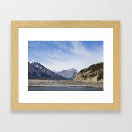 Lake Kluane Framed Art Print