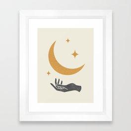 Moonlight Hand Framed Art Print