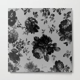 Gothic Floral Metal Print