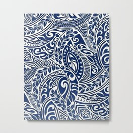 Hawaiian tribal pattern III Metal Print