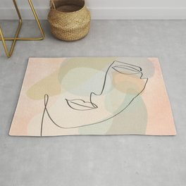 Abstract Female - Gentle Thoughts Rug