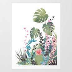 tropical composition Art Print
