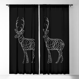 Geo Reindeer Blackout Curtain