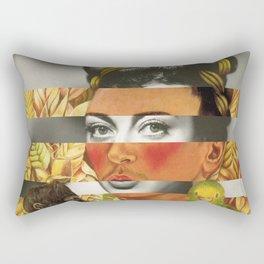 Frida Kahlo's Self Portrait with Parrot & Joan Crawford Rectangular Pillow