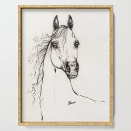 Arabian horse drawing Serving Tray