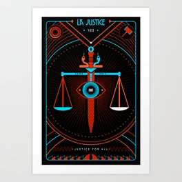 TAROT. VIII- La Justice Art Print