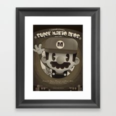 Mario Bros Fan Art Framed Art Print