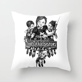 Rapture's Emblems : The Little Sisters Throw Pillow