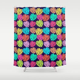 Monstera Deliciosa Print Shower Curtain