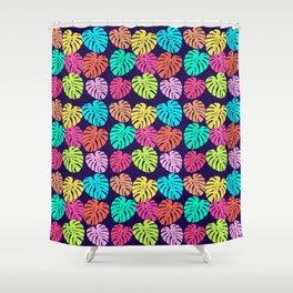 Monstera Deliciosa Print Shower Curtain