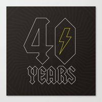 acdc Canvas Prints featuring ACDC/40 Years by Byway