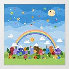 Cute World Canvas Print