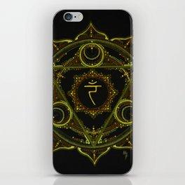 Solar Plexus Mandala iPhone Skin