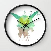 yoda Wall Clocks featuring Yoda by SpooksieBoo