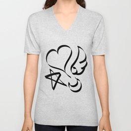 Cute Calligraphy Shapes Unisex V-Neck