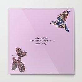 Fates Origami Metal Print