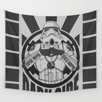 dark side Wall Tapestries featuring Dark Side Trooper  by tshirtsz
