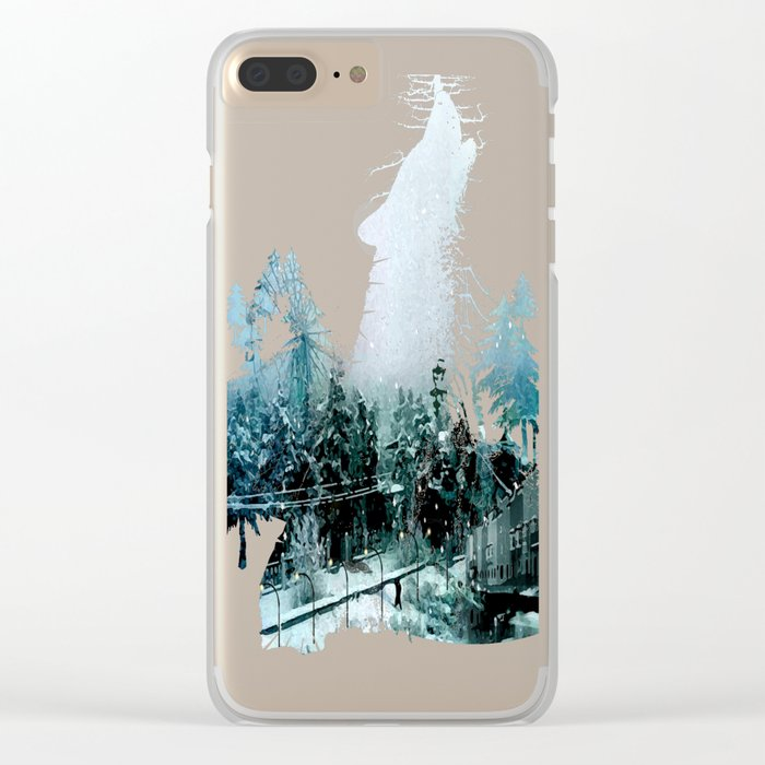 Cold Forest Playground Clear iPhone Case