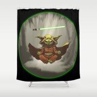yoda Shower Curtains featuring Yoda by Marc Vuletich