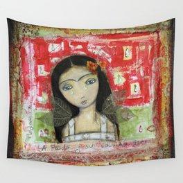 La Frida y su Columna Rota by Flor Larios Wall Tapestry