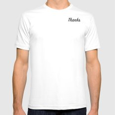 Thanks White MEDIUM Mens Fitted Tee