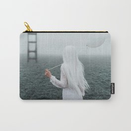 All white Carry-All Pouch